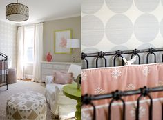 The perfect pink and green nursery