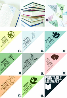 free printable bookmarks that actually STAY in your books! Plus they're darling...
