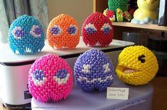 Pac-Man - 3D Origami by o0DreamMyst0o.deviantart.com