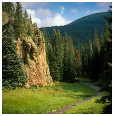Located in the Jemez Mountains near Los Alamos, NM... this is one of my absolute favorite places on Earth!  :)