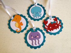 Under the Sea Birthday Party Door or Wall Sign Let's Party. $12.50, via Etsy.
