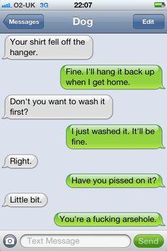 Haha, texts from Dog