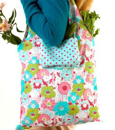 #sewmuchlove for this reversible market bag!