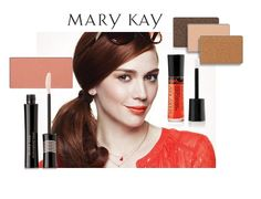 Get a sun-kissed look perfect for summer romance with Mary Kay® Mineral Eye Color in Amber Blaze, Spun Silk, and French Roast; Mary Kay® Lash Love® Lengthening™ Mascara in I ♥ Black; and Mary Kay® NouriShine Plus® Lip Gloss in Mango Tango!