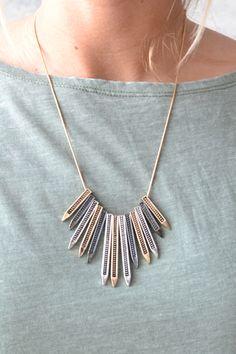 Piace Boutique - Spikes Pendant Necklace, $12.00 (http://www.piaceboutique.com/spikes-pendant-necklace/)