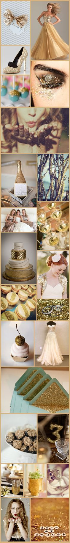 Wedding Inspiration: All That Glitters Is Gold