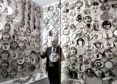 Piero Fornasetti and his awesome decoupage plates of Cavalieri. I so want some of these plates.
