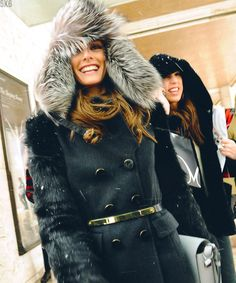Olivia Palermo in NYC (08 feb'13) furs, winter style, fashion styles, shutter, street styles, olivia palermo, winter coats, hat, cold weather