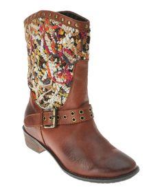 Brown Pueblo Leather Cowboy Boot