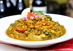 African Lentils, Greens and Millet