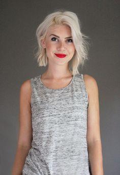 asymmetrical mid-length bob (pixie cropped tumblr)
