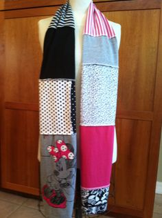 @Sarah Chintomby Chintomby Haynie. UPCYCLED t-shirt scarf.