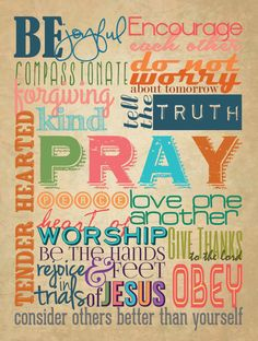 Colorful Christian Family Rules Poster 18x24 by everythingdesign, $25.00