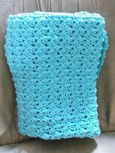 Triple Stitch baby blanket #crochet