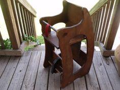 3 in 1 Rocking Horse High Chair Desk Childs Vintage