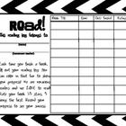"""Enjoy this fun, and pretty reading log! I introduce this reading log to my students after we discuss the café strategy of being """"voracious readers...."""
