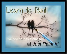 Learn how to paint... online! Cool... I can't wait to see this video.  I have several Donna Dewberry books,  DVD's  to watch.  I had 3 strokes , coma, heart attack, pneumonia, multiple infections and I was partially  paralyzed on the left side. I healed completely except 4 my memory.  So, the books and DVD's came in handy.