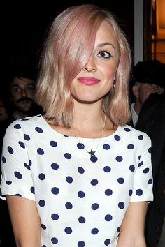 Fearne Cotton's light pink hair hue - celebrity hair and hairstyles