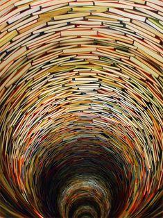 libraries, sculptures, rabbit hole, book sculpture, library books, alice in wonderland, czech republic, prague, book rooms