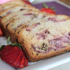 bake, food, strawberries, delici, breads, bread recipes, yummi, strawberri bread, dessert