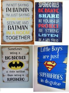 Find all your Superhero signs here