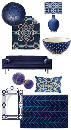 Navy home accessories.