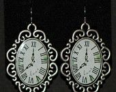 Homemade steampunk clock face earrings. $7