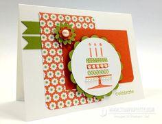birthday cake card - stampin up