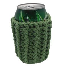 $1.99 - Ribbed Can Cozy - A Crochet pattern from jpfun.com