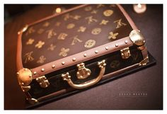 Louis Vuitton briefcase cake