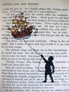 Peter Pan Book Page Print