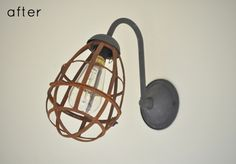 Before and after: Industrial sconce makeover from Design Sponge