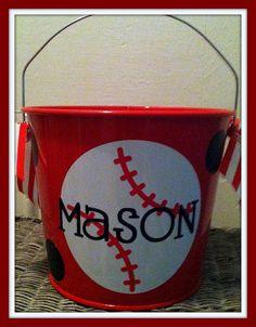 Monogrammed Easter Bucket Easter Basket by ChicMonogram on Etsy, $22.00