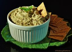 Roasted Cauliflower Spread with Basil Walnuts and Bleu Cheese (Meatless Monday) | The Saucy Southerner