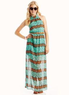 lace leopard halter dress