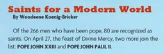 Download this FREE PDF and discover why Bl. John XXIII and Bl. John Paul II are saints for a modern world, and role models for the families of today.