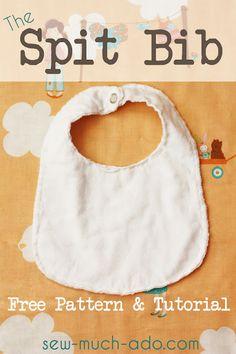 Sew Much Ado: Spit Bib Tutorial and Free Pattern