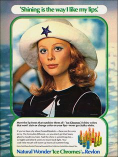Nautical-themed Revlon lipstick ad, 1971
