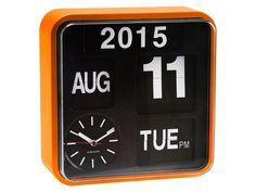 Karlsson Mini Flip Black Dial Wall Clock, Orange