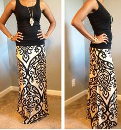 Candle Light Maxi Skirt. Great find!!