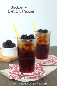 Blackberry Diet Dr. Pepper - blackberry syrup added to Diet Dr. Pepper is so delicious