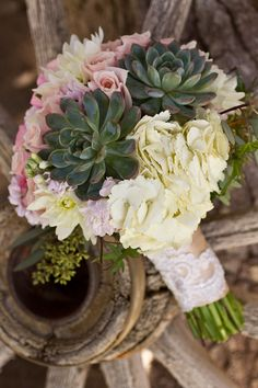 Rustic Ranch Wedding Inspiration - pretty dessert bouquet by @Florencia Cotignola Couture by Floral 2000 #vegasweddings