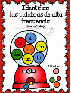 Identify High Frequency Words in Spanish from Angelica Sandoval on TeachersNotebook.com (20 pages)