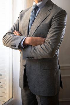 Thom Sweeney bespoke suit - Flannel   My man !