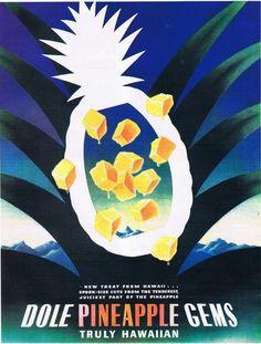 Vintage pineapple ad