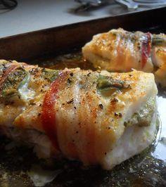 The English Kitchen: Roasted Cod with Pancetta and Artichoke Pesto