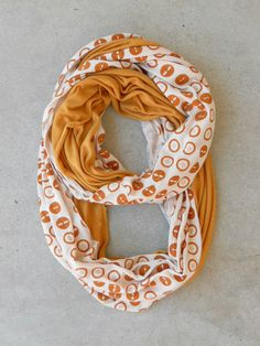 Button Print Infinity Scarf