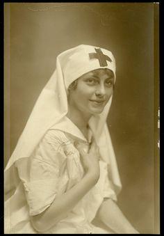 WWI Nurse Antique Photo