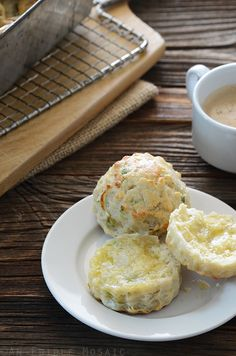 Savory Scallion and Cheese Scones #recipe #baking #scones