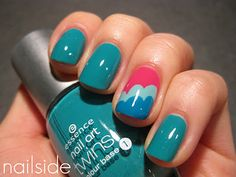 NAIL ART INSPIRATION: Love the cloud design made by Jane from Nailside.